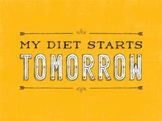 Diet tomorrow