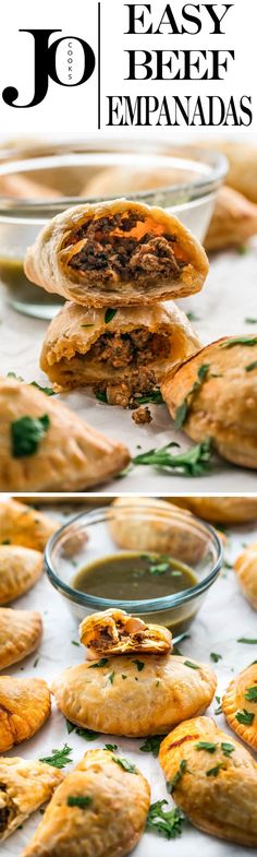Baked Beef Empanadas made with puff pastry, so easy and so delicious. Don't underestimate puff pastry, it's quite versatile and makes some delicious empanadas. #beef #empanadas