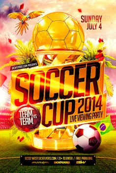 Brazil Soccer Cup 2014 Football Flyer - http://www.ffflyer.com/brazil-soccer-cup-2014-football-flyer/ Brazil Soccer Cup 2014 Football Flyer Super Easy to edit text and Elements  #2014, #Bar, #Baseball, #Beer, #Brazil, #Club, #Football, #Lounge, #Sky, #Soccer, #Sports, #WorldCup