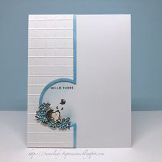 Swanlady Impressions: Hello There scrapbook Ideas Birthday Card Ideas For Friends Creative SimpleDesign pattern drawing crafts 32 ideas for 2019 and time for a new CASology Challenge . This week's cue word is TURQUOISE . Fun Fold Cards, Folded Cards, Cute Cards, Ideas Scrapbook, Scrapbook Cards, Scrapbook Designs, Tarjetas Stampin Up, Stampin Up Cards, Birthday Card Design