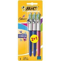 BIC Charm Purple Stylos-bille 4 Couleurs 2 + 1 Gratuit - Achat / Vente stylo…