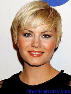Cute pixie with bangs