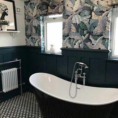 Cute Bathroom Decor | How To Decorate A Bathroom | Dark Grey Bathroom Bin 20190720 Upstairs Bathrooms, Downstairs Bathroom, Bathroom Bin, Attic Bathroom, Family Bathroom, Dark Gray Bathroom, Grey Bathrooms, Bathroom Trends, Bathroom Ideas