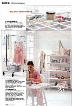 Airy and light studio with touches of pink ~ Einrichtung by Thea N., via Flickr