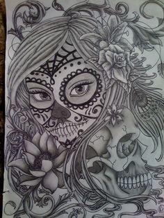Sugar Skull Girl | Finished Day Of The Dead Sugar Skull Girl by ~Pin-updoll on deviantART