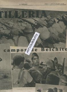 LA VANGUARDIA.AÑO 1936.GUERRA CIVIL.CORONEL VILLALBA EN GRAÑEN.BELCHITE.CENTURIA THAELMANN.CARLOS MA