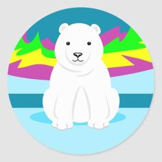 Shop Polar Bear Art For Kids Classic Round Sticker created by waterart. Bear Pictures, Bear Art, Round Stickers, Different Shapes, Bulletin Boards, Polar Bear, Art For Kids, Custom Stickers, Activities For Kids