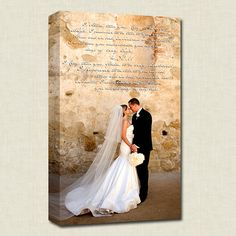 Canvas art with the lyrics of your first dance!
