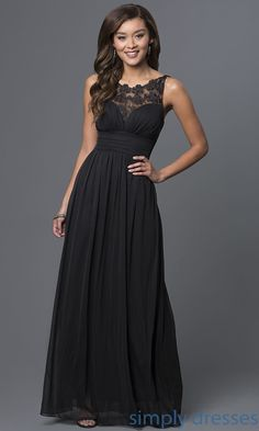 7f2d2ab1faa Illusion-Lace Floor-Length Sleeveless Formal Dress