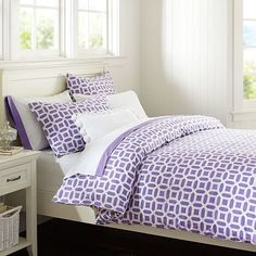 Peyton Duvet Cover + Sham, Purple #potterybarnteen