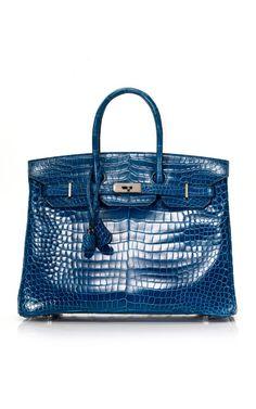 aea9cfda6b8 35cm Bleu Roi Shiny Porosus Crocodile Birkin Hermes Bags