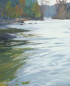 Broad ~ artist Danna Ray, c.2014; acrylic on canvas  #art #painting #landscape