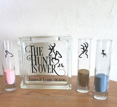 The Hunt is Over Family Unity Sand Ceremony Set - Country Wedding by VinylDzines on Etsy Hunting Wedding, Camo Wedding, Dream Wedding, Country Wedding Inspiration, Unity Sand, Wedding Sand, Sand Ceremony, Anniversary Gifts For Husband, October Wedding