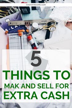 5 Things to Make and Sell for Extra Cash - Cost of Income Make Money Fast, Make Money Blogging, Make Money From Home, Money Tips, Make And Sell, Make Money Online, Soy Candle Making, Finance Books, Homemade Candles