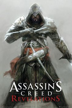 Póster Assassin´s Creed. Ezio, Revelations  I maybe a gramma, but I really, really like Ezio!  Such a very appealing man! It must be because his looks and traits (not the assassin part!) have always been what I look for in a man. He is the only video game character that I have ever had a crush on :-)   Anyway, I am of the firm belief that Ubisoft made these Assassin games just for us women!!!