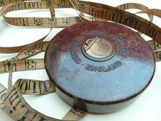 English vintage tape measure in bakelite case 66 by LeMoulinBleu, $49.00