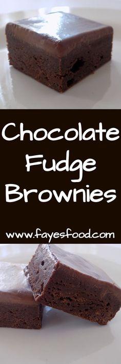Chocolate fudge brownies...yum! #fayesfood #brownies