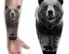Animal Tattoos For Men, Tattoos For Guys, Cool Tattoos, Native Tattoos, Tribal Tattoos, Tatoos, Ours Grizzly, Grizzly Bear Tattoos, Tribal Bear