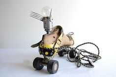 Flying Roller Skate Handcrafted vintage industrial by fishtail45