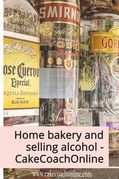 When it comes to running a home bakery - and a customer asking for alcohol to be added into the cake design - you need to check out your local rules. You are not allowed to sell alcohol without a license - so be careful of taking on these orders. Read our blog to find out more.
