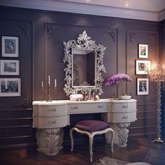 Elegant Vanity & room<3