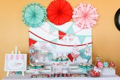 Sugar and Spice Baby Shower: Petite Party Studios printable sugar and spice collection ($45) is a modern way to fete boy/girl twins. The collection includes everything from a welcome sign and personalized banner to food labels, drink wraps, and thank-you cards.
