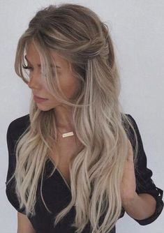 Fancy Hairstyles, Braided Hairstyles, Hairstyle Ideas, Wedding Hairstyles, Style Hairstyle, Prom Hairstyles Down, Female Hairstyles, Princess Hairstyles, Beautiful Hairstyles
