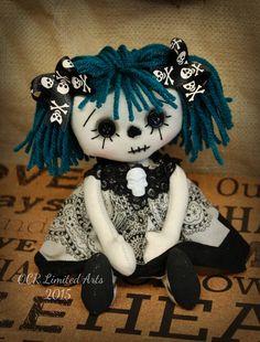 Gothic little AMY Rag Goth Tattered goth spooky by OCRLimitedArts