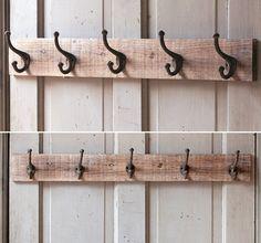 Industrial Coat Hanger | Reclaimed Wood Coat Hanger