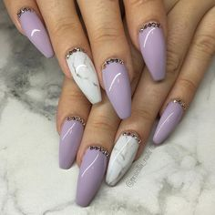 Pinterest: lowkeyy_wifeyy ✨ marble and purple nails