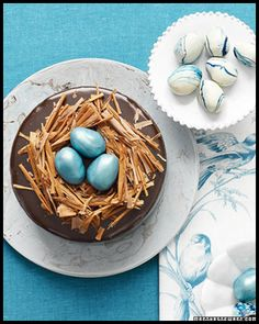 Martha Stewart truffle egg cake.. made this for Ammar when he came (photo is obviously hers)