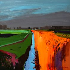 Winter evening on White House Road, March 2017 Fred Ingrams Abstract Landscape Painting, Abstract Watercolor, Landscape Art, Landscape Paintings, Abstract Art, Gouache, History Of Modern Art, River Painting, Great Paintings