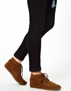 TOMS Tan Tribal Ankle Boots @Courtney Hayes I'm pretty sure what we talked about today is gonna happen, because I NEED these.