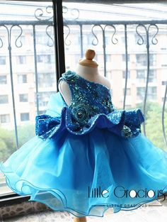 Royal blue Glitz Pageant Dress Performing Dress, one shoulder Dancing Dress, Baby Easter Dress, Inf African Dresses For Kids, Latest African Fashion Dresses, Little Girl Dresses, Girls Dresses, Flower Girl Dresses, Baby Girl Dress Patterns, Baby Dress, The Dress, Kids Dress Wear