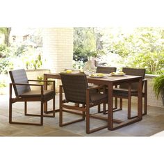 5-Piece Canal Point Dining Set (includes 2 sets of 2pk Chairs + Table) $648 Shop Lowes.com