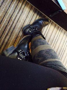 Booties and Knee high socks