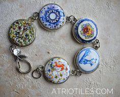 Portugal Antique Coimbra Pottery Dish BRACELET   17th by Atrio