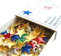 Gold stars - this was a real thing at my house. We had a chart and everything. My friends did at their houses too and we also had them at school. I was a big gold star over-achiever. I have no clue what the other colors were for - they did not exist in my world!