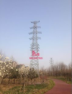 Dead-end steel tower, also named anchor tower or anchor pylon, uses horizontal strain insulators and occur at the endpoints of conductors. Such endpoints are necessary when interfacing with other modes of power transmission and, due to the inflexibility of the conductors, when significantly altering the direction of the tower line. Dead-end towers are also employed at branch points as branch pylons. Transmission Tower, Zhuhai, Dead Ends, Qingdao, Conductors, Electrical Equipment, Towers, Anchor, Steel