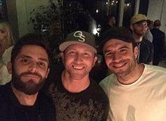 Thomas Rhett, Cole Swindell, and Sam Hunt