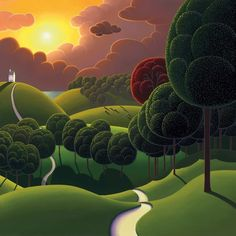 Paul Corfield, Professional Landscape painter, working in oils and painting freelance for Washington Green Fine Art Publishing. Landscape Art, Landscape Paintings, Landscapes, Modern Art, Contemporary Art, Photo Images, Kunst Poster, Naive Art, Art For Art Sake
