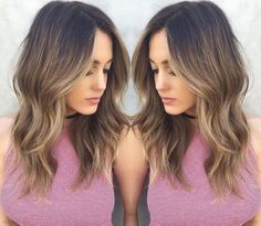 Cute Balayage Hair Coloring
