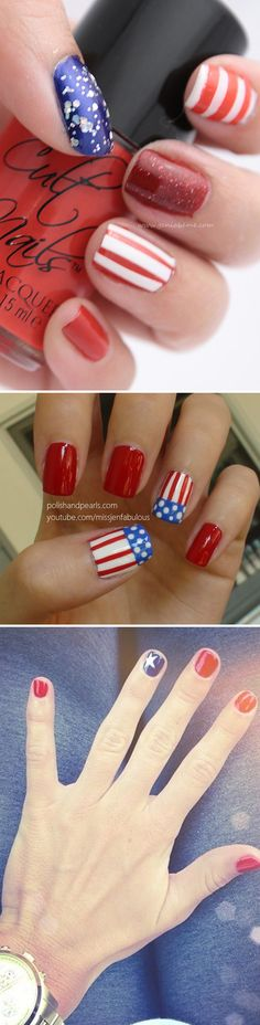 Quick, Easy, and Unique 4th of July Manicure Ideas.