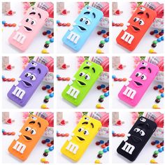 3D M&M Chocolate Case Cover For Coque iPhone 5C 4 6 6s 7 7plus Case Silicone Carcasa Funda For iPhone 5C Capinha phone bag case #clothing,#shoes,#jewelry,#women,#men,#hats,#watches,#belts,#fashion,#style