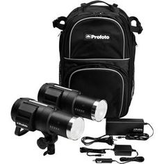 Profoto B1 500 Air Battery-Powered 2-Light Location Kit, Includes 2x B1 500 AirTTL Battery Powered Flash, Battery Charger, Car Charger, Backpack M