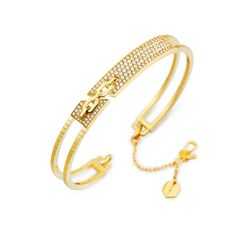 Bar-Tack-Yellow-Gold-and-Diamond-Slip-On-Cuff