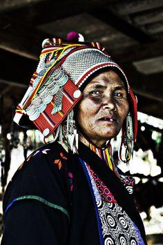 Akha Tribe Shaman Woman, Thailand