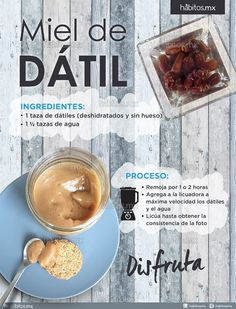 Hábitos Health Coaching | MIEL DE DÁTIL DE SÓLO DOS INGREDIENTES