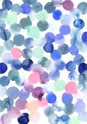 Image of Royal Blue, Forest and Coral Watercolour Print
