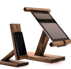 perfect kitchen tool! make looking at recipes easy with these wooden stands